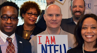 NTEU members show their pride