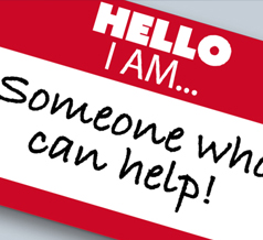 "Sticker ""Someone who Can Help!"""