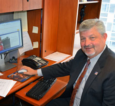 President Reardon at his Desk