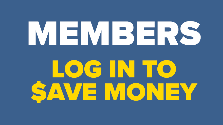 Log in to Save Money